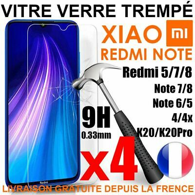 Vitre Film Protection Verre Trempe Xiaomi Redmi 6/Pro/6A/7/8/Note7/Note8 T/5/5A