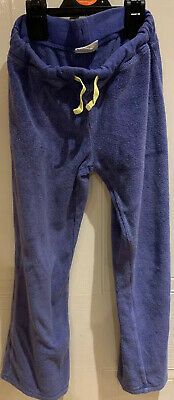 Mini Boden Blue Terry Jogging Trousers Girls Age 9