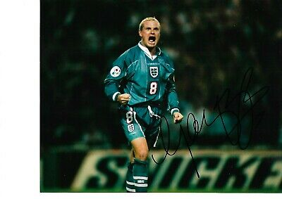 Paul Gascoigne Hand Signed 10 X 8 Inch Colour Photograph.