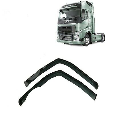 Volvo Fh4 Fh16 Window Wind Rain Deflectors Smoke Tinted Euro 6 2013 On  For Lhd