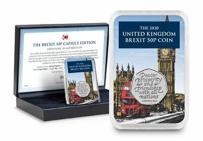 Withdrawal from the European Union 2020 The Brexit 50p Capsule Edition Best Pric