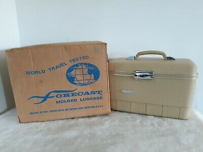 Vintage Forecast Travel Train Cosmetic Make Up Case Small Luggage Carry On