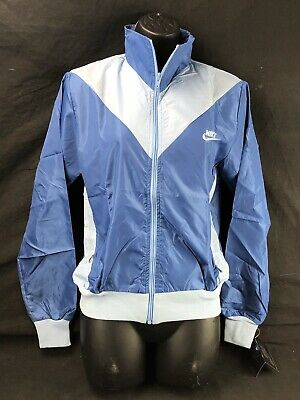 Vintage Nike Women's Windbreaker Medium Track Jacket NWT Copen Blue/Ice Blue
