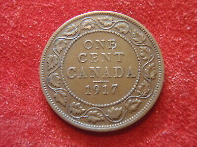 Canada Large Cent - 1917 - Nice Condition - 103 Years Old - World War I - Look !