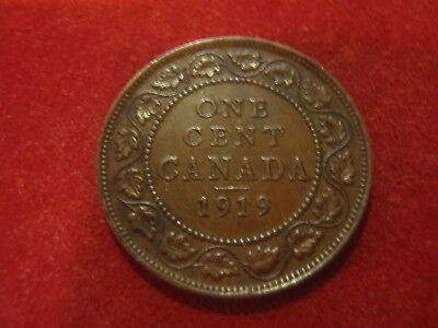 Canada Large Cent - 1919 - Nice Condition - 101 Years Old-Add To Your Collection