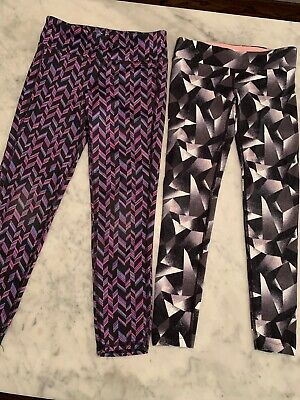 2 Pair Little Girls Activewear Leggings, Old Navy & TUFF Athletics, Sz Small