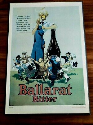 BALLARAT BITTER OLD POSTER PRINT LIMITED EDITION reproduction No4 breweriana