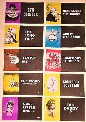 Jack Chick Tracts - Lot Of 10 - New! - (No Duplicates) See Pics And Description