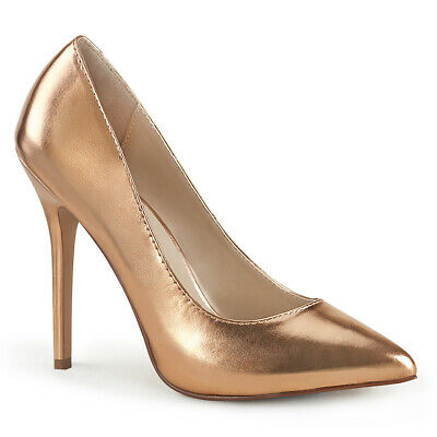 Rose Gold High Heels Mens Drag Queen Race Large Size Womans Shoes 13 14 15 16