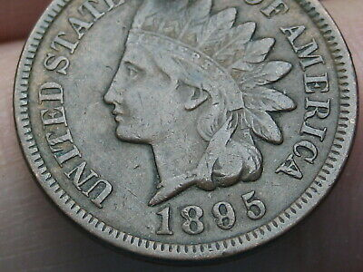 1895 Indian Head Cent Penny, VF/XF Details