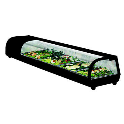 Thermaster 7x1/3 Pans 76L Sushi Showcase Sushi and Salad Tops