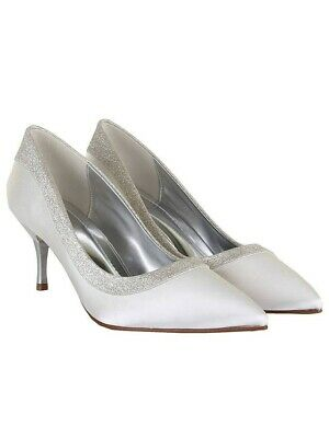 Rainbow Club Maddie UK6 EU 39 wedding bridal shoes Ivory / Fine shimmer BNIB