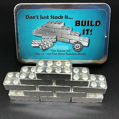 1 Oz Mpm Lego Brick - Monarch Precious Metals - 999 Fine Silver Bullion Bar #42