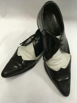 1920s 1930s Gangster Correspondence Shoes Black and White size 8 Brogue ex hire