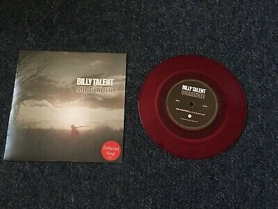 """Billy Talent - Surrender - Red 7"""" Single - UNPLAYED Etched ATO 280 A/B"""