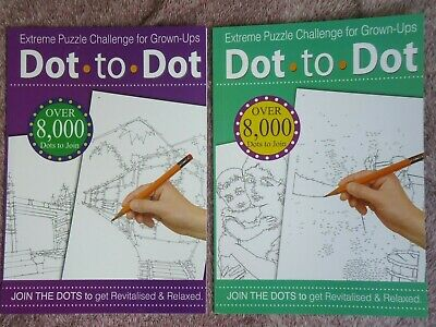 Dot To Dot Adults Book - Large A4 Anti-Stress Challenging Activity Book