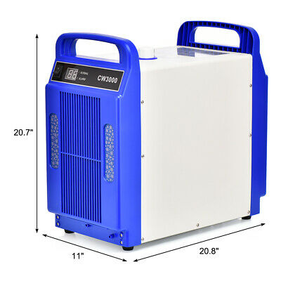 CW-3000DG Thermolysis CO2 Glass Tube 220V Water Chiller Industrial 60/80W