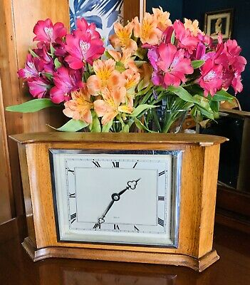 Nice designed 1930's Oak cased Elliot mantle clock