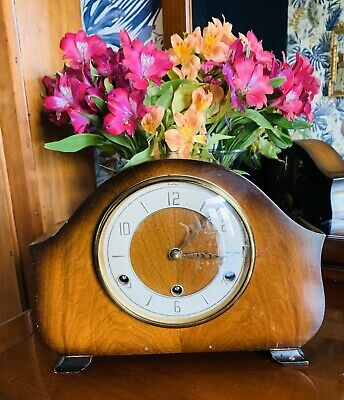 1950-60's Westminster Chime 8 day Oak cased clock by Bentima