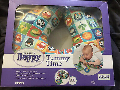 EUC Boppy Tummy Time Prop Pillow w/ 2 Toys Included, Packed In original Box