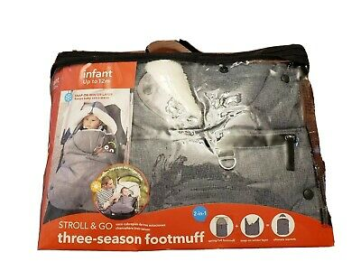 New Skip Hop Stroll And Go Three-season Toddler Stroller Footmuff