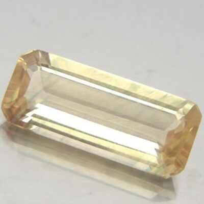Aaa - Natural Andesine Ct 5.37 Vvs Octagon Cut Copper Yellow Color Origin Congo
