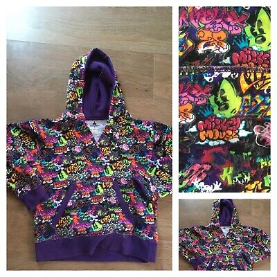 Authentic Disney Parks Hoodie Large 10-12 Years Girls Quirky Funky Rare Vgc
