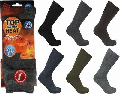 Mens Top Heat 2.3 Tog Thermal Insulated Socks UK Shoe Size 6-11