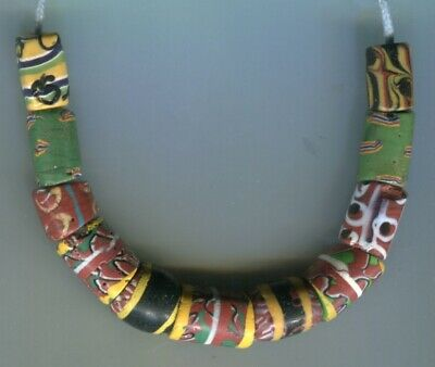 African Trade beads Vintage Venetian glass beads nice mixed old fancy beads