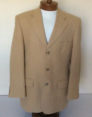 Brooks Brothers Mens Blazer Classic 346 Tan Camel Hair 3 Btn Vent 41R