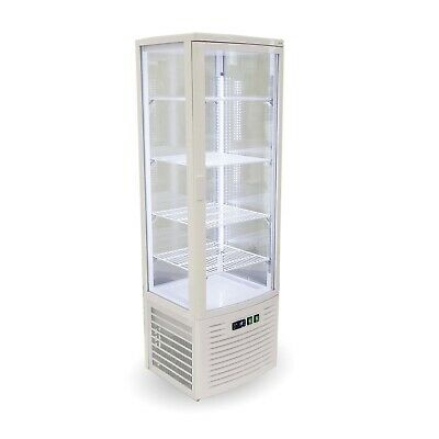 Thermaster Four sided 220L Display Fridge White Food Displays