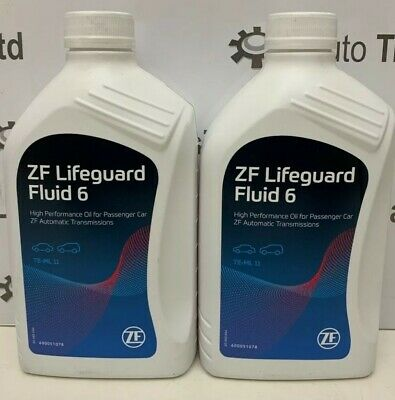2 litres of landrover jaguar bentley zf lifeguard 6 speed automatic gearbox oil
