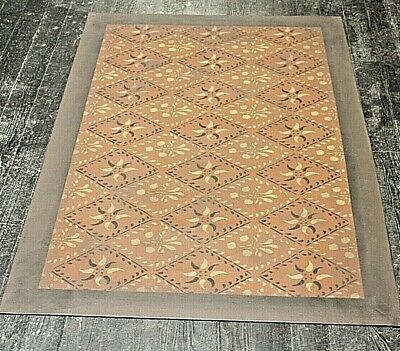 """Floorcloth 2'X3' """"CONCERTO"""" Hand Crafted Rug AVAILABLE FOR IMMEDIATE DELIVERY"""