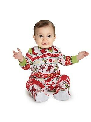 One Piece Sleeper for Infants Dr. Seuss The Grinch Multiple Size Pajamas