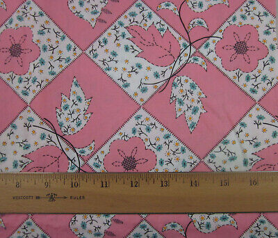 VINTAGE 35 Inch COTTON Quilting /& Sewing Fabric Beautiful Print BTHY