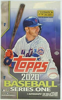2020 Topps Series 1 Factory Sealed Baseball Hobby Box with Silver Pack
