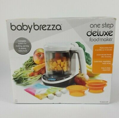 Baby Brezza One Step Deluxe Baby Food Maker, Steams & Blends FREE SHIP