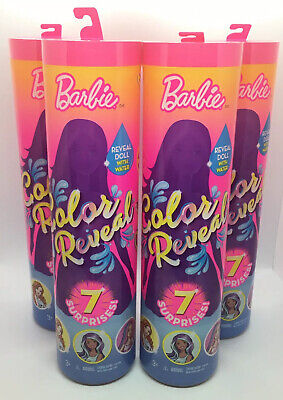 Barbie Color Reveal Doll 2019 Doll Color Change 7 Surprise - Set Lot Of 4 - New
