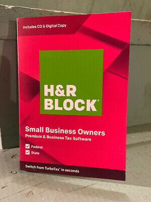 H&R Block Tax Software Premium & Business 2019 NEW Sealed