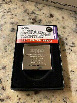 Zippo 65828 Rechargeable Arc Lighter Insert Double Plasma Beam - NIB - Electric