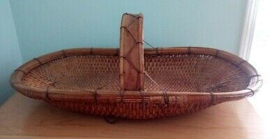 Vintage Chinese weaved flower gathering basket. Bought in China.
