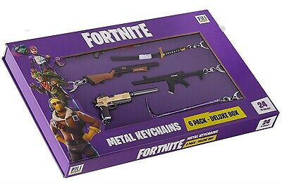 Fortnite Metal Keychain, Battle Royale Collection, 3-6 Inch, 6-Pack - Series A
