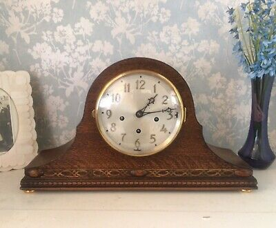 Stunning Antique Peerless Triple Westminster Chime Clock Inc Winchester Restored
