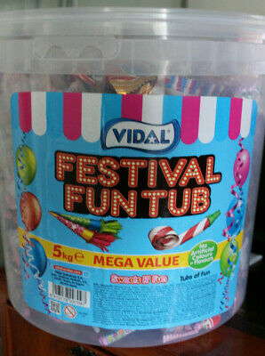 5Kg Factory Sealed Tub Vidal Sweets Festival Fun Mix Great For Party Bag Fillers