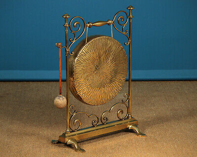 Antique 19th.c. English Art Nouveau Dinner Gong c.1890.