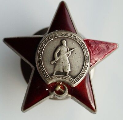 -   Medal  Order of the Red Star- SILVER  & 100% Authentic