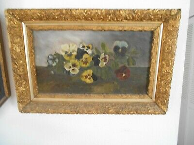 Antique  Still Life. Oil On Canvas. Unsigned. 19Th Century-Gilded Frame