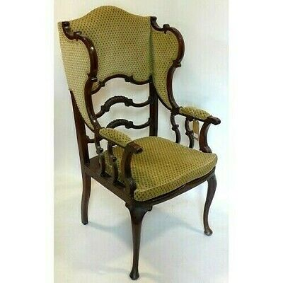 Rare James Shoolbred Art Nouveau Library Wing Armchair For A Hospital Nurse Fund