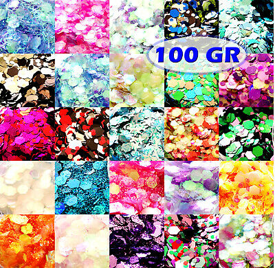 100g Chunky Festival Glitter Tattoo Cosmetic Body Art Nail Hair Eye Lip Craft