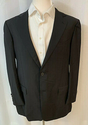 ERMENEGILDO ZEGNA Couture Gray MADE IN ITALY TROPHY MOHAIR SUIT Jacket 44L
